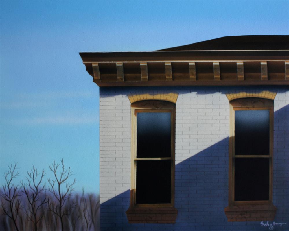 """Apartment on Adams Street"" original fine art by Fred Schollmeyer"