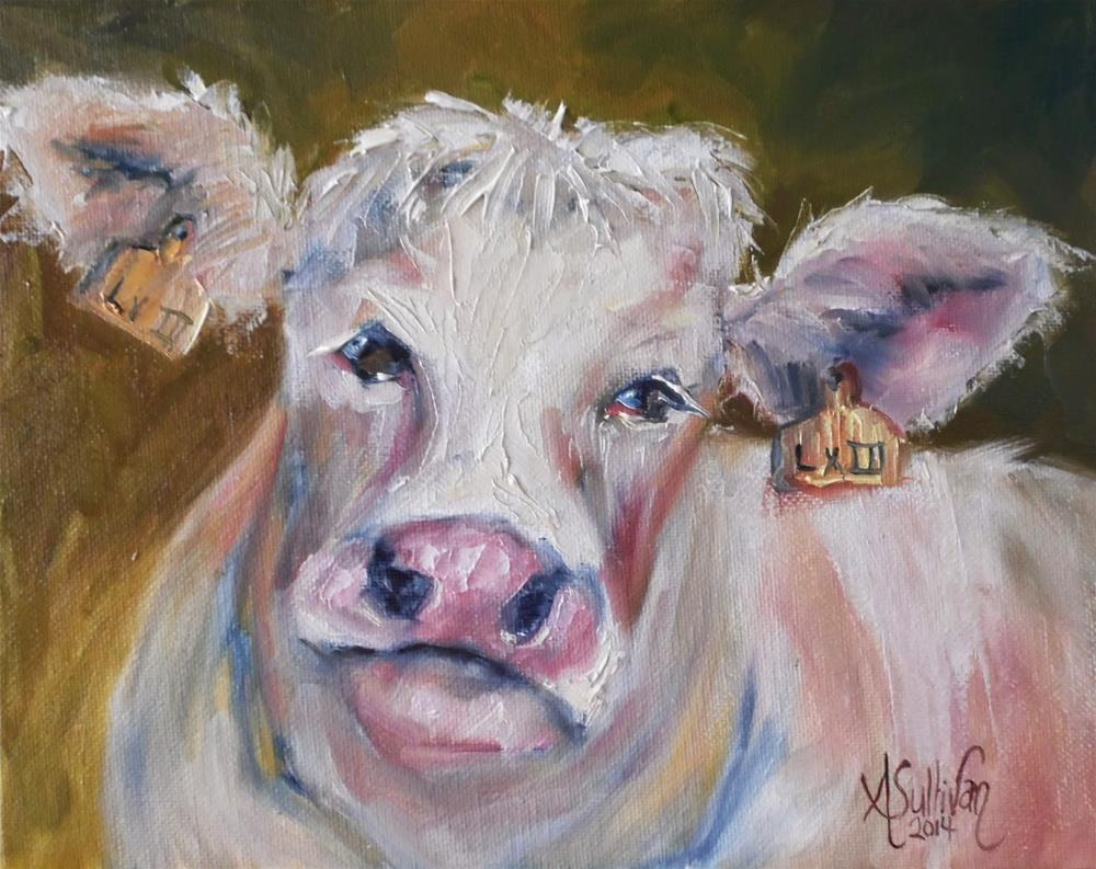 """Gentle Bess cow painting by Alabama Artist Angela Sullivan"" original fine art by Angela Sullivan"