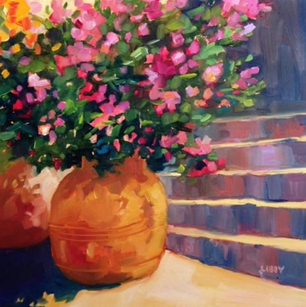 """Sunny Stairs"" original fine art by Libby Anderson"