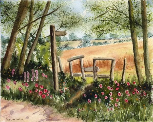 """""""Golden Fields"""" original fine art by Janet Graham"""
