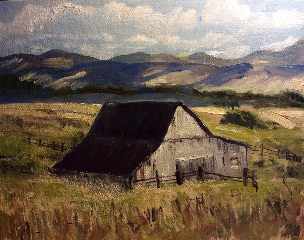 """Montana Bound"" original fine art by Charlotte Lough"