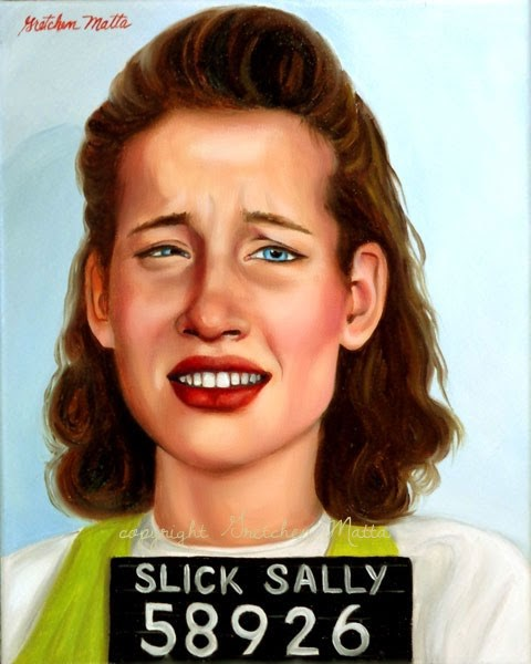 """Slick Sally"" original fine art by Gretchen Matta"