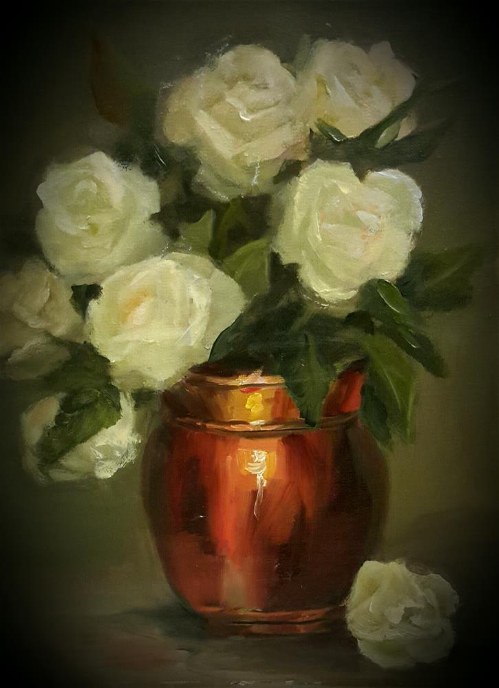 """Copper and Roses"" original fine art by Jessica Veilleux"