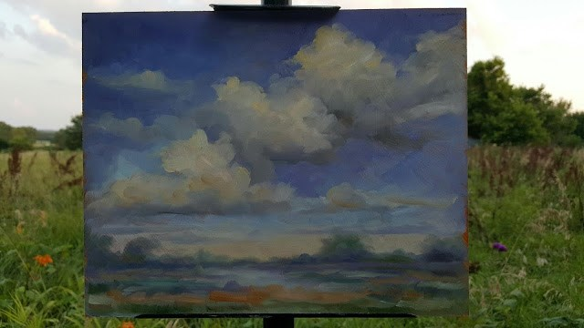 """Clouds over the Meadow"" original fine art by Tammie Dickerson"