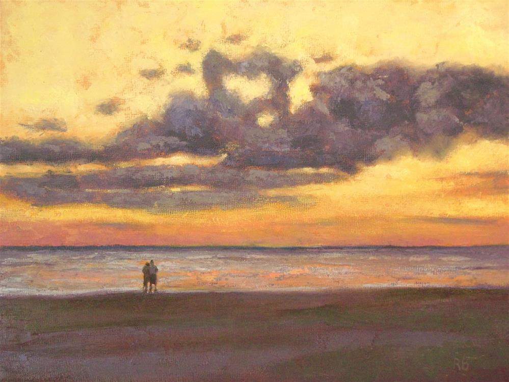 """""""Honeymooners"""" original fine art by Robie Benve"""