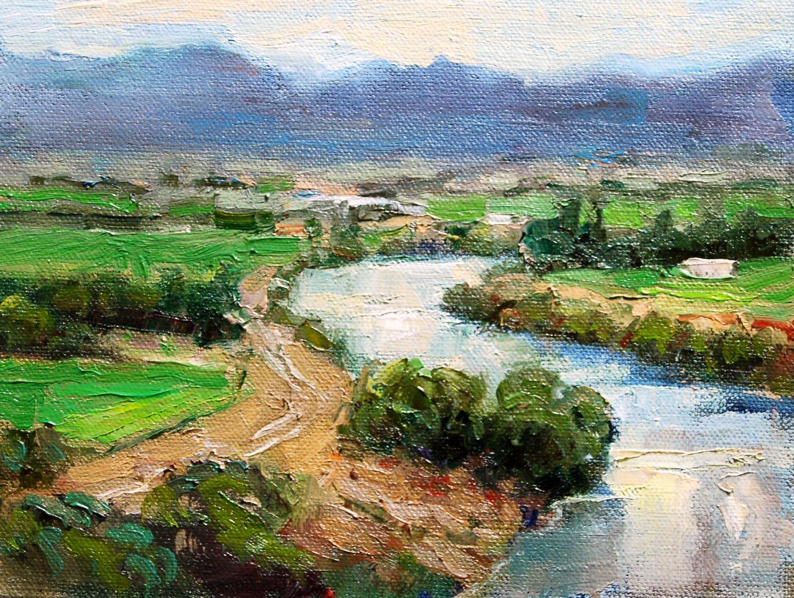 The Alfalfa Fields original fine art by Julie Ford Oliver