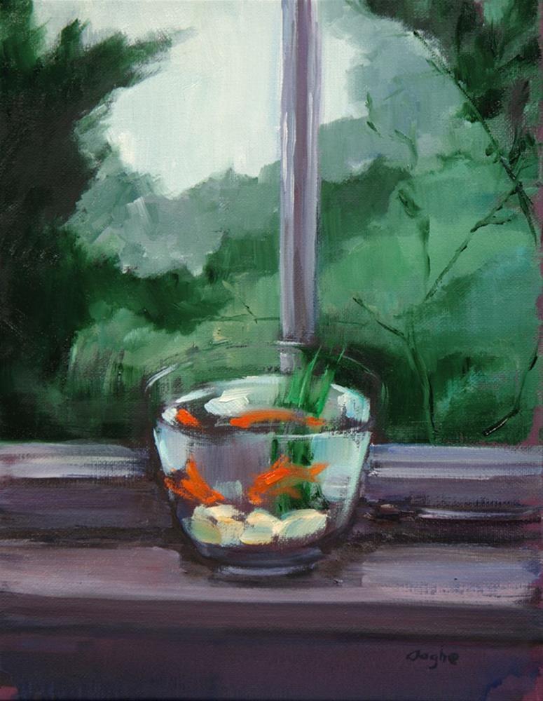 """Goldfish in Window"" original fine art by Angela Ooghe"
