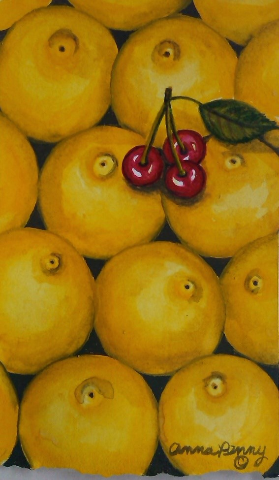 """Sweet and Sour"" original fine art by Anna Penny"