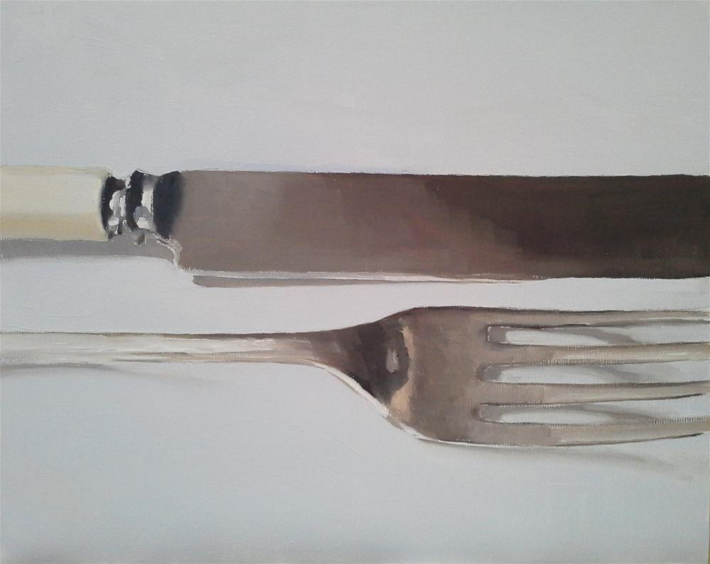 """Knife and Fork 1"" original fine art by James Coates"