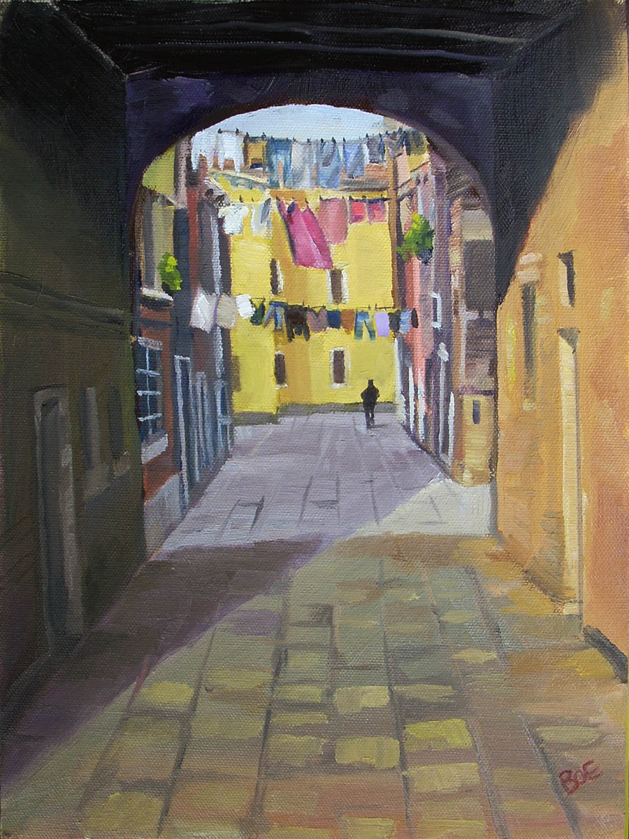 """Venice Laundry"" original fine art by Karen Boe"