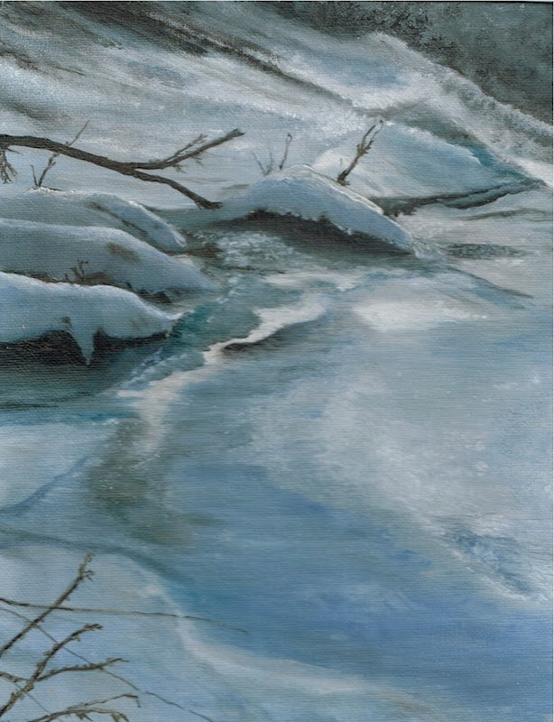 """Silver and Cold"" original fine art by Karen Stitt"