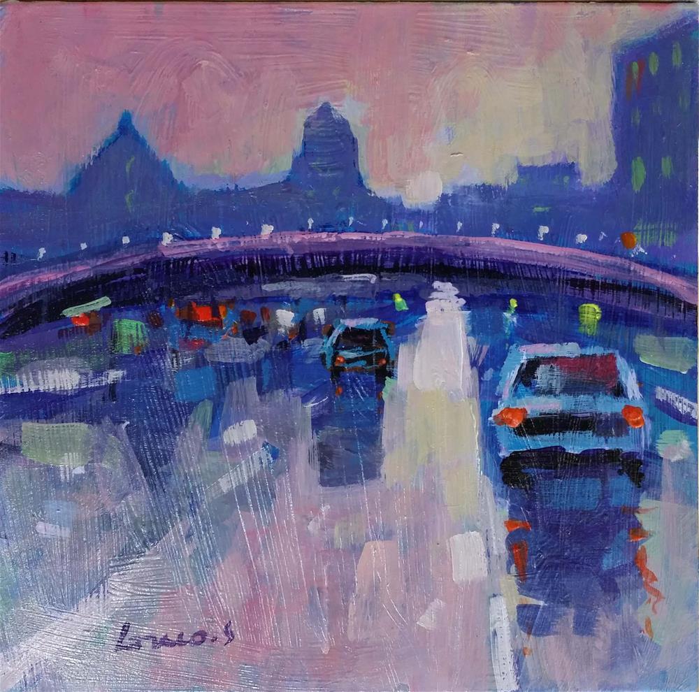 """""""cityscape"""" original fine art by salvatore greco"""
