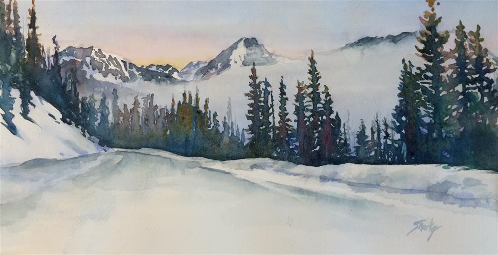 """""""Monarch Pass First Light"""" original fine art by Ann Sharkey"""
