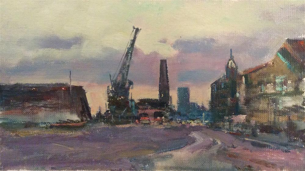 """Chatham Dockyards"" original fine art by John Shave"