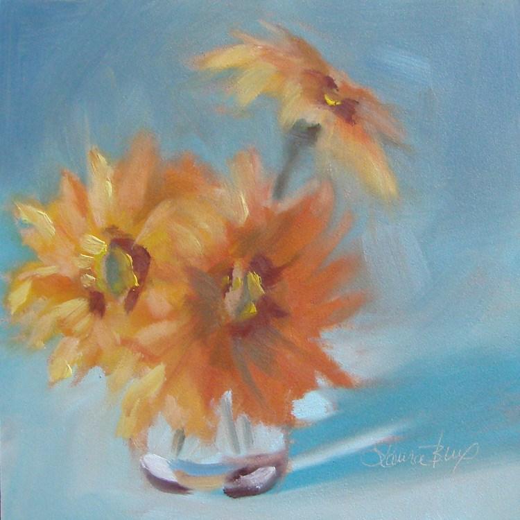 """""""From my Garden - 392"""" original fine art by Laura  Buxo"""