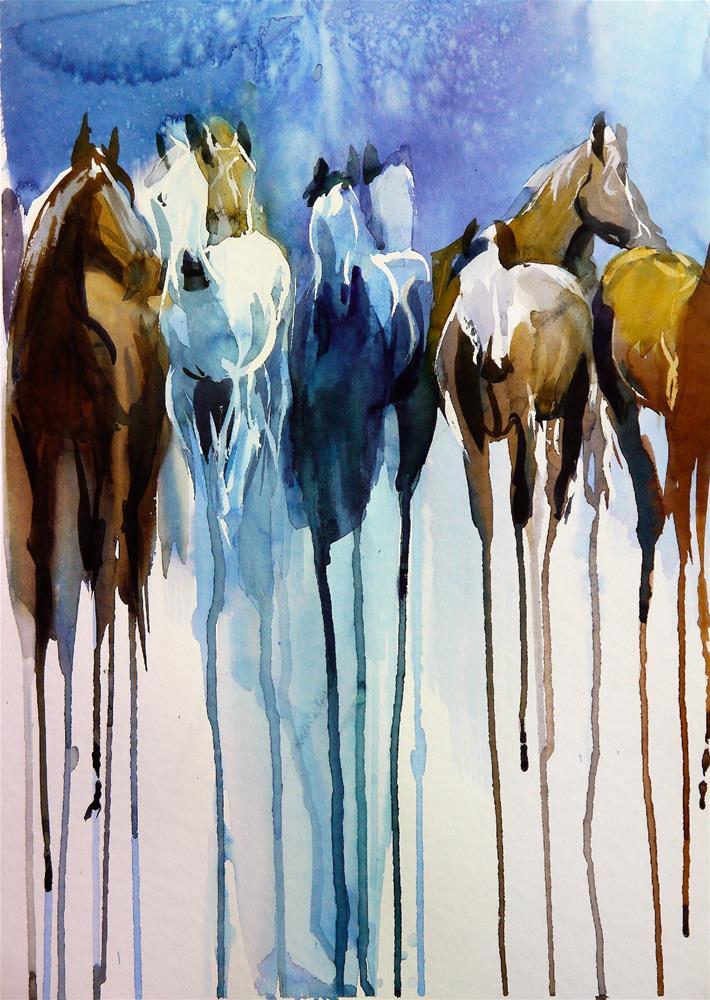 """herd_5"" original fine art by Beata Musial-Tomaszewska"