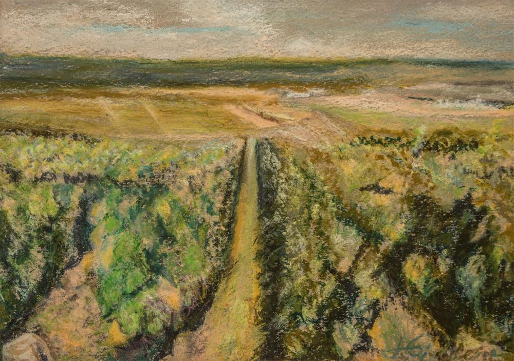 """""""Iowa Farm"""" original fine art by Jeri Giddens"""