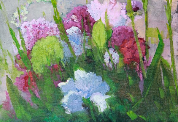 """Floral  Oil Painting, Fine Art,Flowers  Spring Pastels by Colorado Landscape Artist Susan Fowler"" original fine art by Susan Fowler"