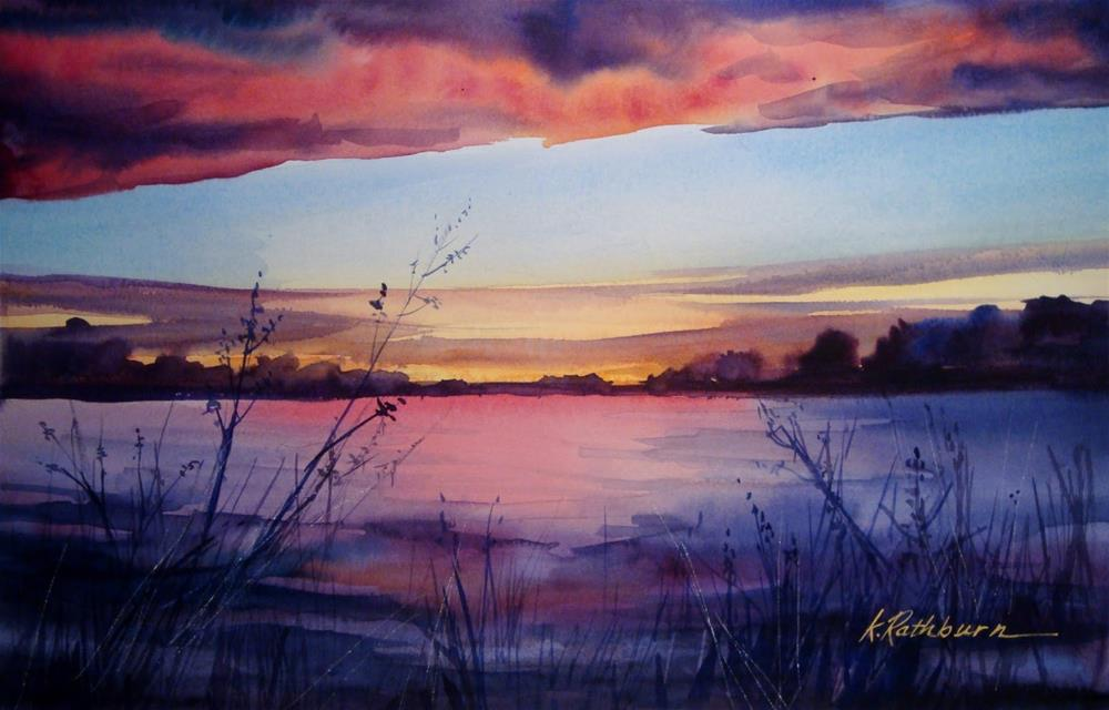 """Today's Sunset, In Case You Missed tt"" original fine art by Kathy Los-Rathburn"