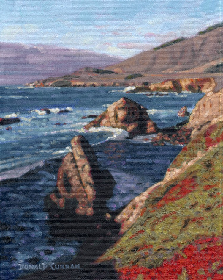 """California Coastal Scene"" original fine art by Donald Curran"