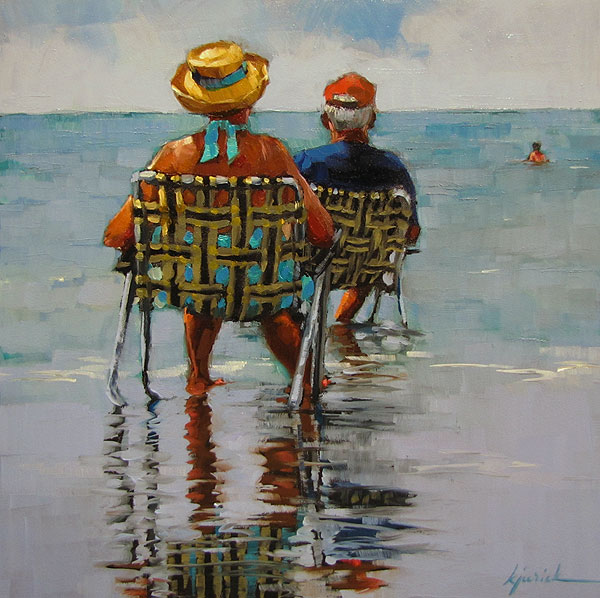 """Two Seater"" original fine art by Karin Jurick"
