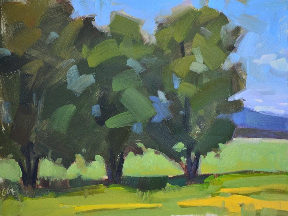 """Three Trees"" original fine art by Carol Marine"