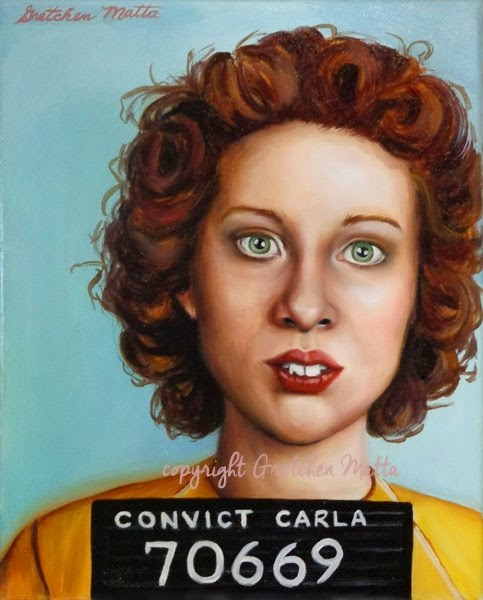 """Convict Carla"" original fine art by Gretchen Matta"