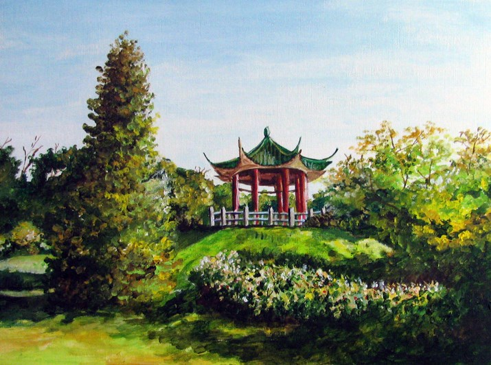 """The Pavilion"" original fine art by Nan Johnson"