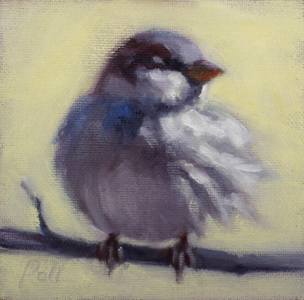 """Sparrow in the Wind"" original fine art by Pamela Poll"