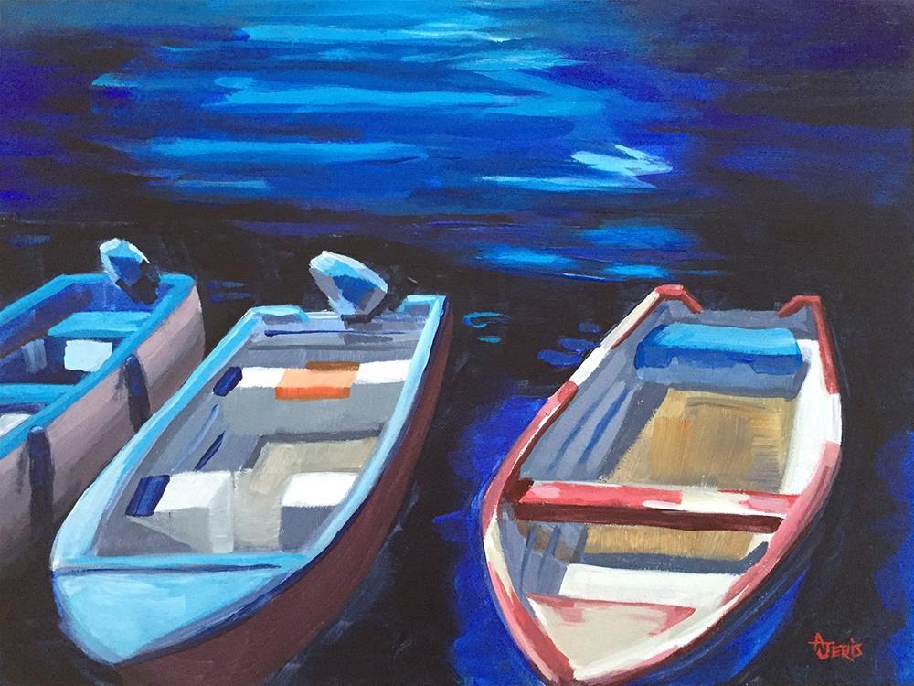 """""""Trois Bateaux"""" original fine art by Andrea Jeris"""