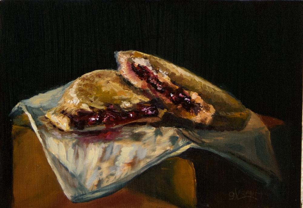 """Krispy Kreme Cherry Pie"" original fine art by Garry Kravit"