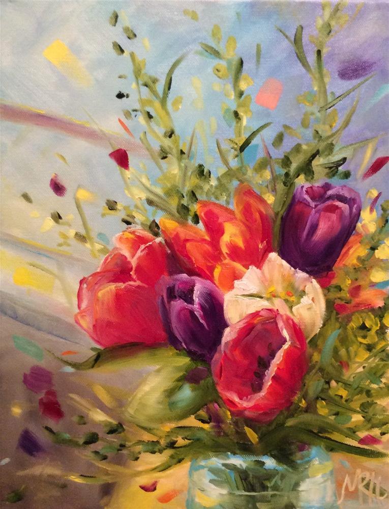 """Good Morning Sunshine"" original fine art by Molly Rohrscheib Hathaway"