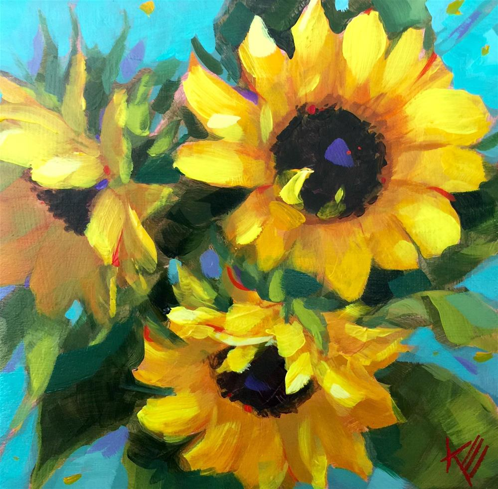 """Surprised by Sunshine"" original fine art by Krista Eaton"