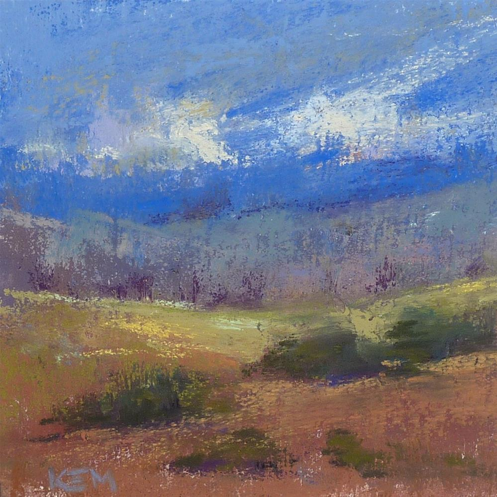 """""""Cheap and Easy Way to Make a Sanded Pastel Surface"""" original fine art by Karen Margulis"""