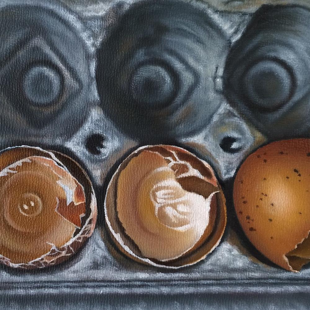 """Eggshell Study"" original fine art by Jelaine Faunce"