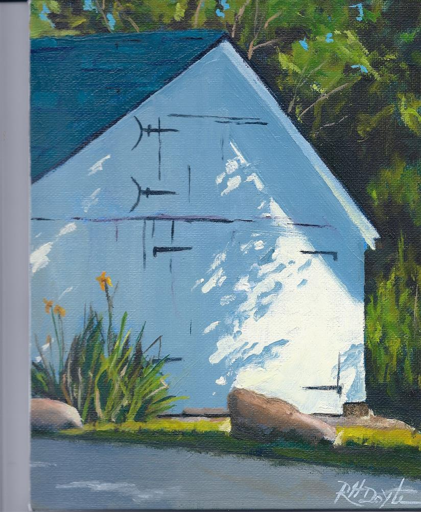 """""""Shed with Shadow"""" original fine art by Richard Doyle"""
