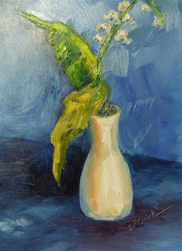 """Lily of the Valley"" original fine art by Donna Pierce-Clark"