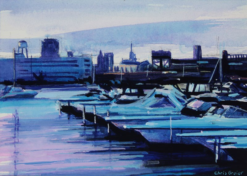 """NFTA Boat Harbor"" original fine art by Chris  Breier"