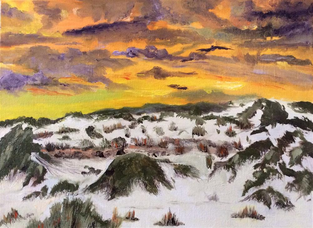 """Sunset at White Sands"" original fine art by Charlotte Lough"