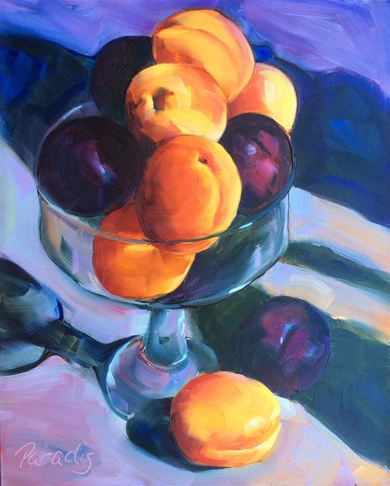 """Plums and Apricots"" original fine art by Rita Paradis"