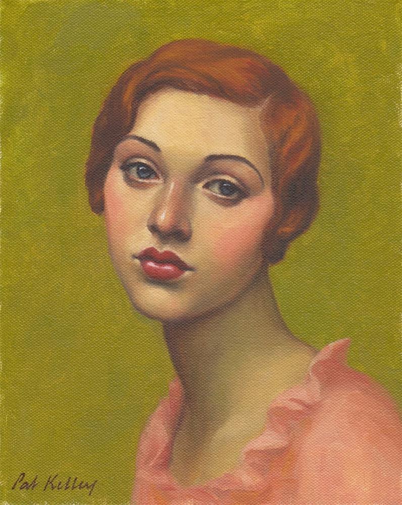 """Portrait of a Redheaded Flapper"" original fine art by Pat Kelley"