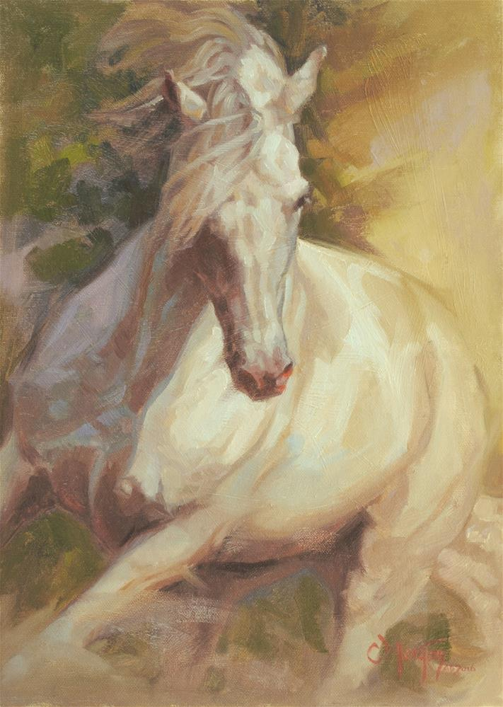 """Unbridled"" original fine art by Cecile W. Morgan"