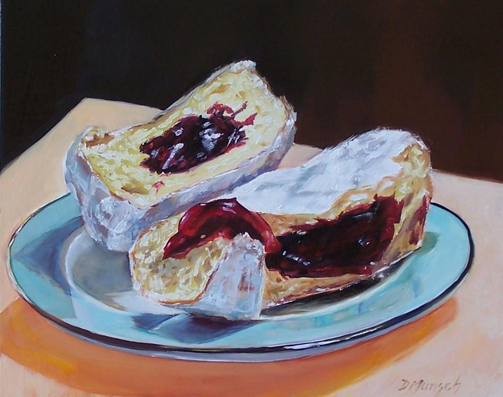 """Powdered Jelly Donut"" original fine art by Donna Munsch"