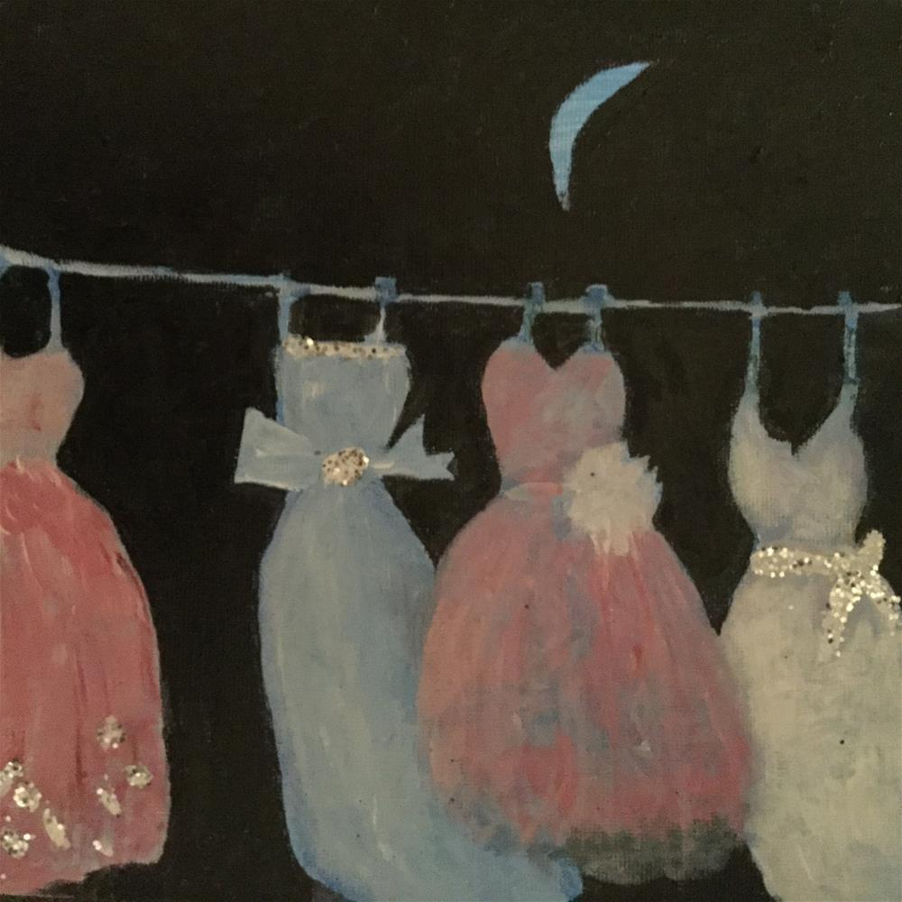 """Emergency ball gown 3"" original fine art by pamela kish"