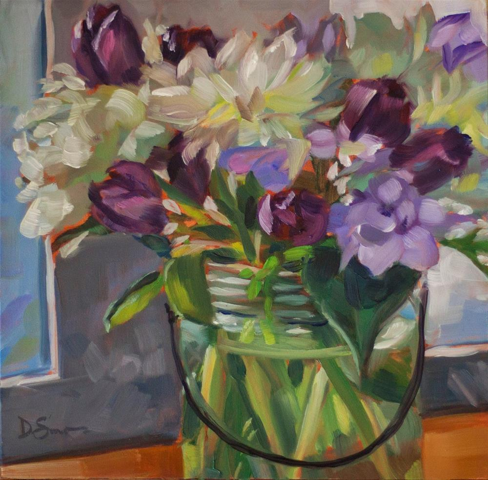 """Tulips and Peonies"" original fine art by Deborah Savo"