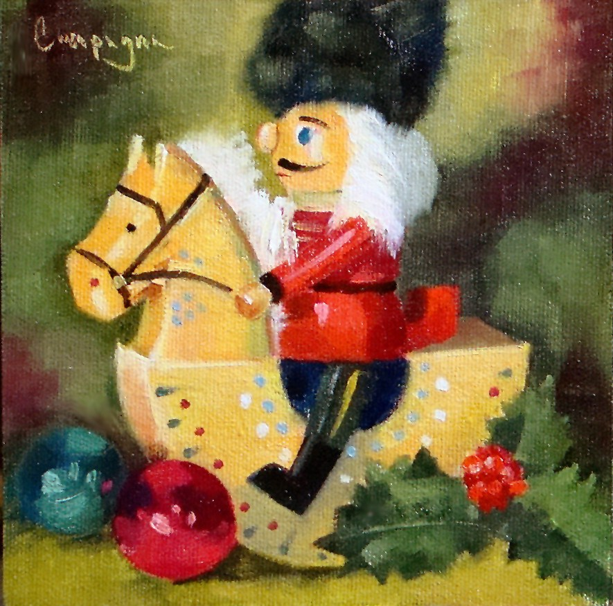 """Nutcracker Pony"" original fine art by Roseanne Campagna"