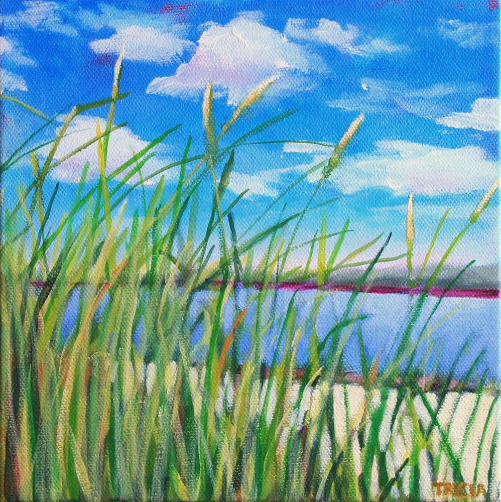 """Beach Grass"" original fine art by Tricia Granzier"