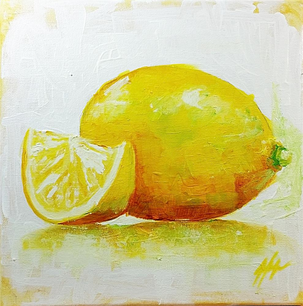 """Lemons No. 3"" original fine art by Jeff Hamachek"