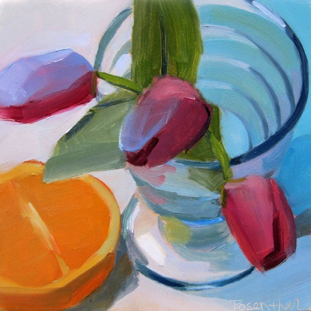 """The Glass Challenge"" original fine art by Robin Rosenthal"
