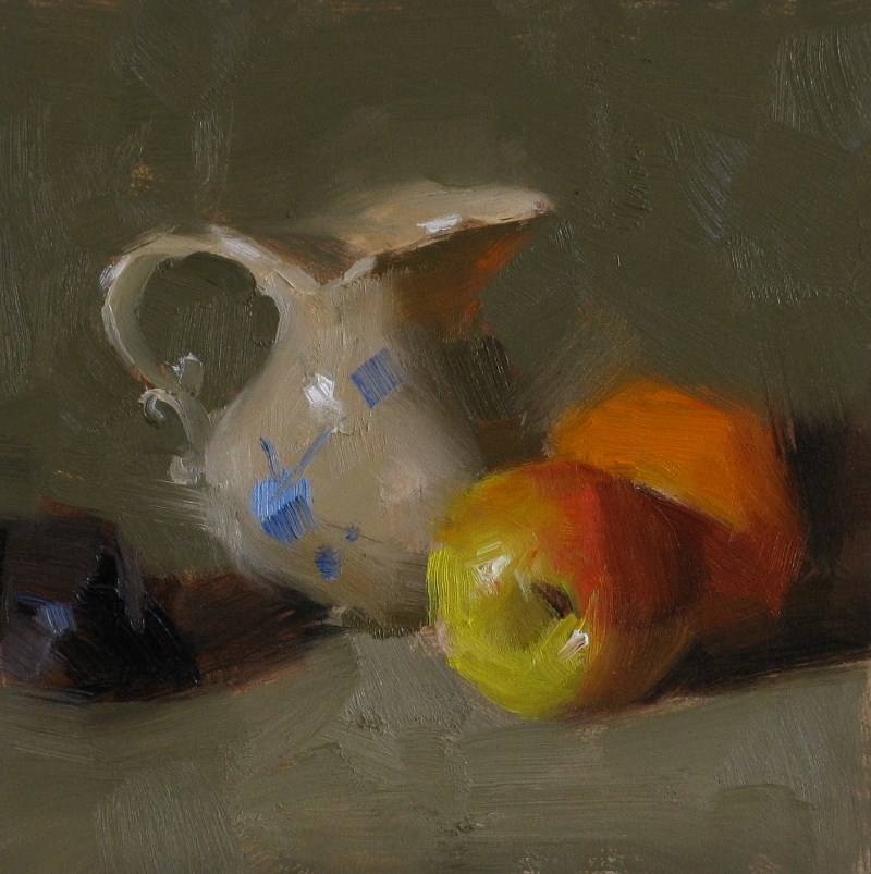 """Apple and Orange"" original fine art by Qiang Huang"